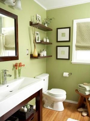 Cores de tintas tabela de cores for Green painted bathroom ideas