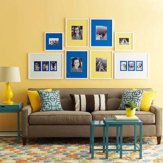 Cores de tintas tabela de cores for Living room ideas with yellow sofa